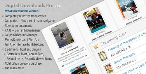 Product picture Digital Downloads Pro v.2.0 - Download Shop System