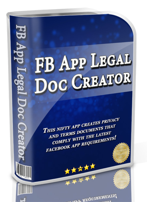 Product picture Facebook Legal Doc Creator + MRR - Privacy and Terms Maker